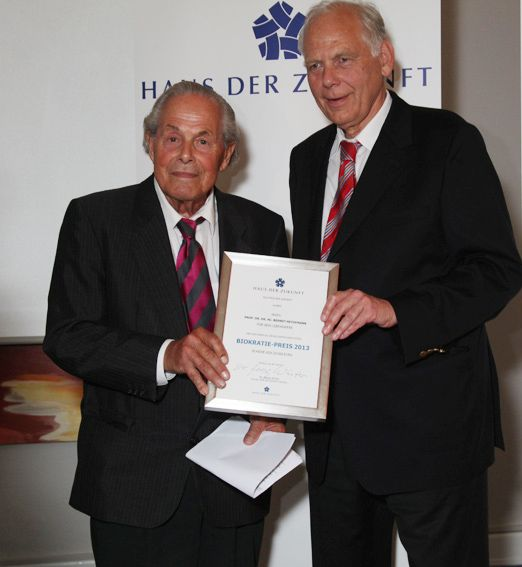 Biocracy Award 2013 Prof. Dr. Berndt Heydemann, Dr. Georg Winter